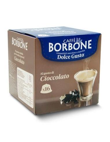 16 Capsule Borbone Compatibili macchine Nescafè Dolce Gusto ®* AL GUSTO DI CIOCCOLATO