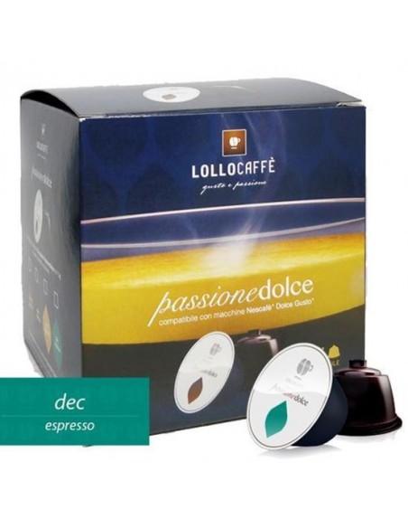 Capsule decaffeinate della lollo caffè compatibili dolce gusto