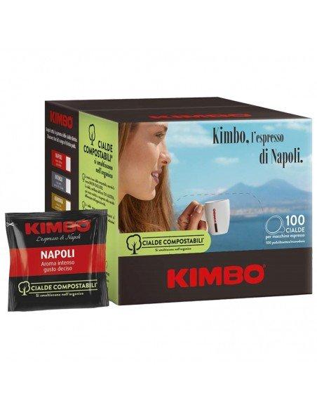 Compatibili 100 Cialde ESE 44mm Caffè Kimbo Espresso Napoli