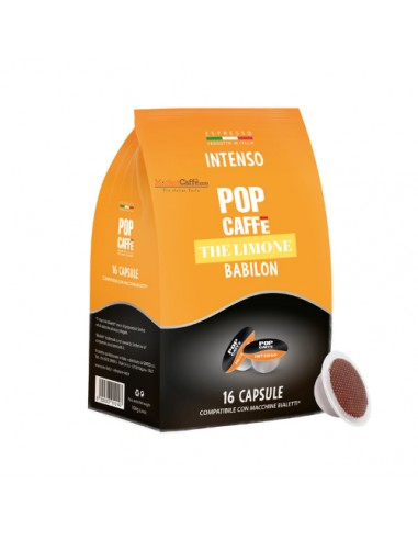 Compatibili 16 Capsule compatibili Bialetti Pop Caffè The Limone