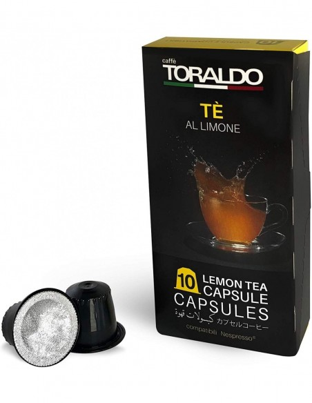 Compatibili 10 Capsule Nespresso Caffè Toraldo The al Limone