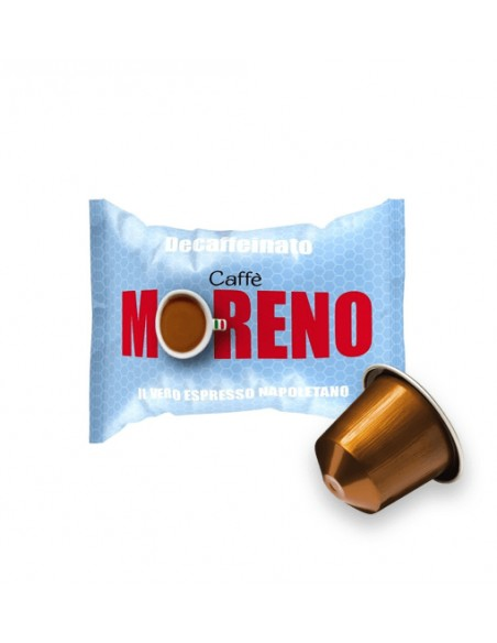 Compatibili 100 Capsule Nespresso Caffè Moreno Dek Espresso