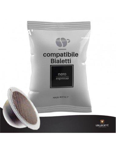 Compatibili 100 Capsule compatibili Bialetti Caffè Lollo Nero