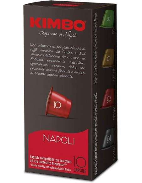 Compatibili 100 Capsule Kimbo Compatibili Nespresso Napoli