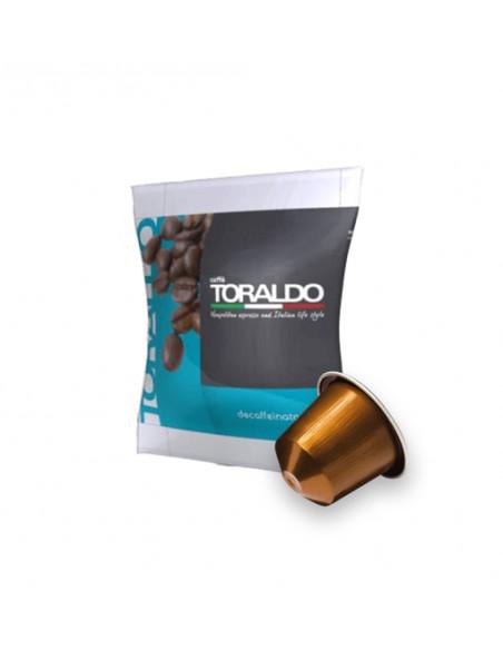 Compatibili 100 Capsule Nespresso Caffè Toraldo Miscela Dek