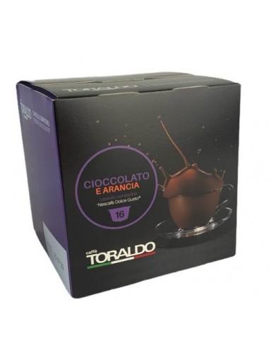 16 Capsule Nescafè Dolce Gusto Caffè Toraldo Cioccolato e Arancia