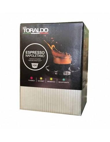 Compatibili 100 Capsule Nescafè Dolce Gusto Caffè Toraldo Espresso Napoletano cremoso