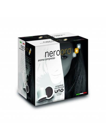Compatibili 100 Capsule Uno System Caffè NeroOro Miscela Oro
