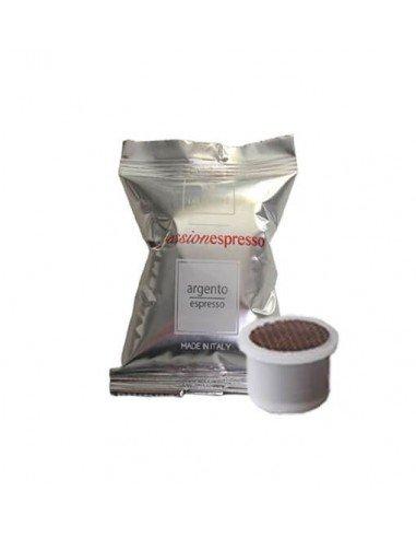 Compatibili 100 Capsule Uno System Caffè Lollo Argento